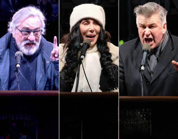Robert De Niro, Cher and Alec Baldwin Donald Trump