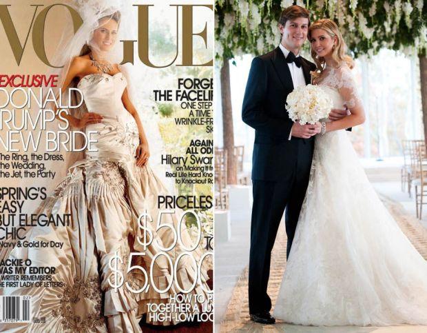 Wedding belles Melania & Ivanka Trump