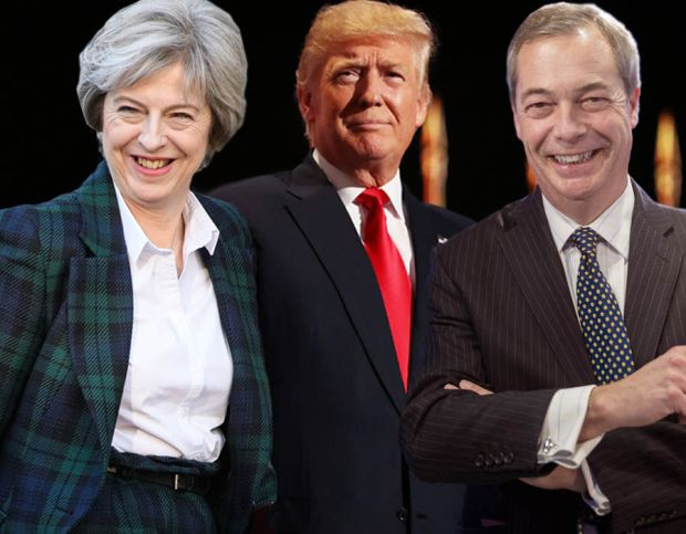 Good Morning Britain Theresa May Donald Trump Nigel Farage