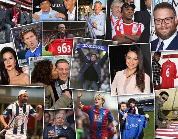 Premier League celebrity fans