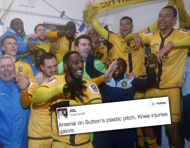 Sutton United Arsenal FA Cup fifth round