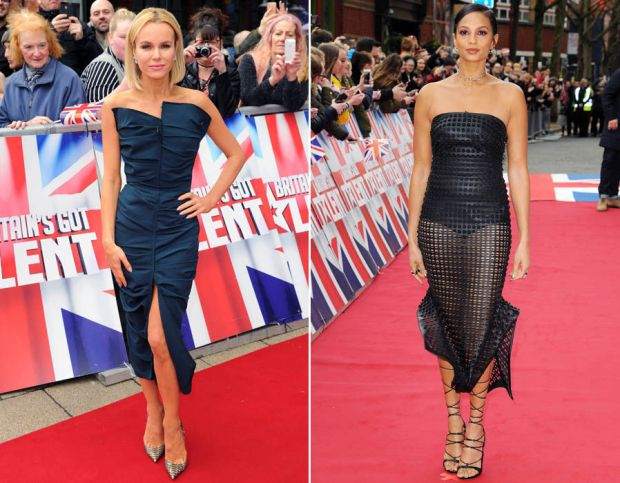 Amanda Holden and Alesha Dixon both opted for figure-hugging numbers