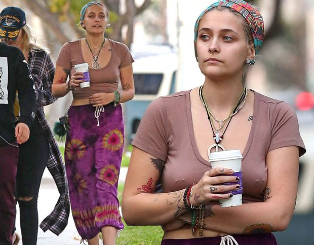 Paris Jackson reveals her nipple piercing in Hollywood