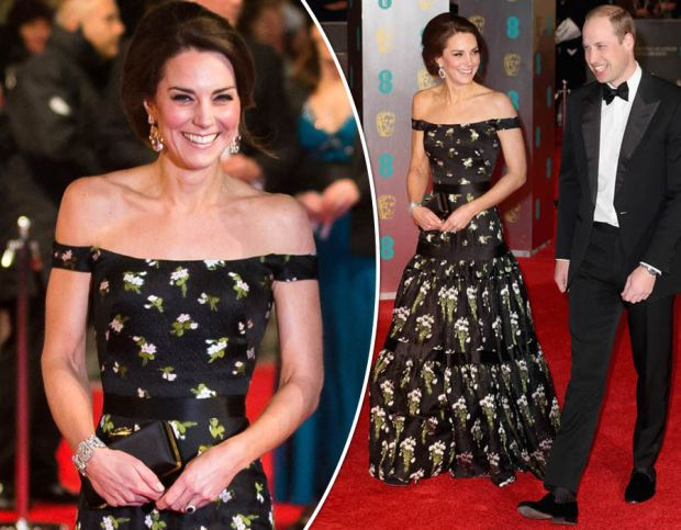 The Duke and Duchess of Cambridge arrive at the 2017 BAFTAs