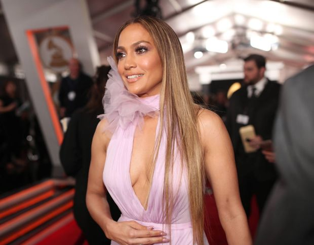 Jennifer Lopez attends The 59th GRAMMY Awards