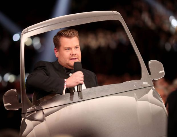 GRAMMY Awards host James Corden during The 59th GRAMMY Awards