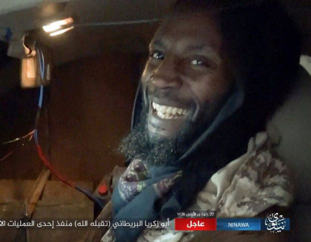 The depraved terror group released a photo of what is is believed to be Ronald Fiddler, known as Abu Zakariya al-Britani , who detonated a car bomb at an Iraqi army base near the Iraqi city of Mosul.