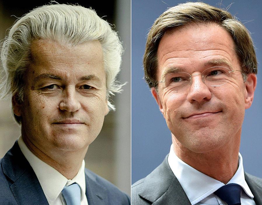 Geert Wilders and Mark Rutte