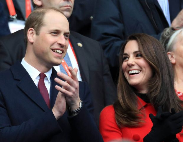 Prince William, Duke of Cambridge and Catherine, Duchess of Cambridge attend the RBS Six Nations match between France and Wales