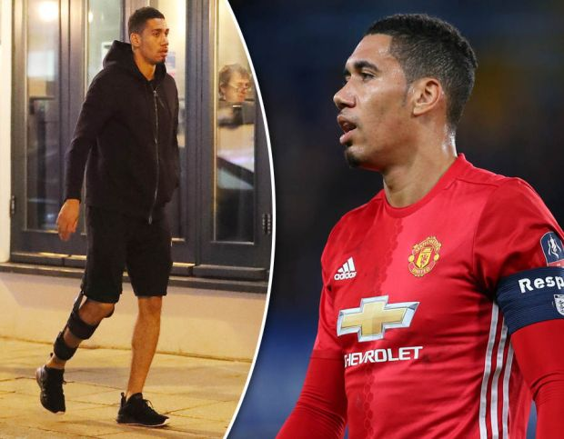 Chris-Smalling-injury-Manchester-United-leg-brace