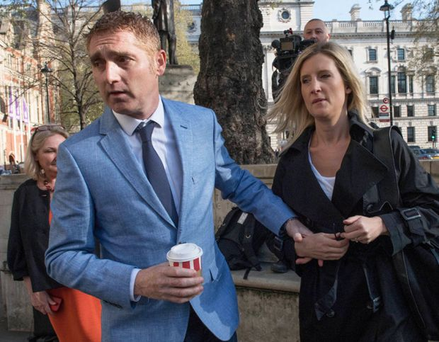 Jon Platt arrives at the Supreme Court in central London with his wife Sally where the Court will rule on the much-anticipated legal case on an unauthorised holiday during school term time
