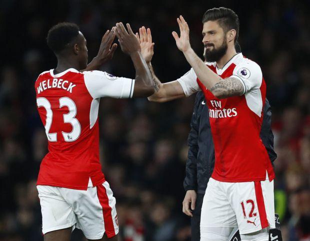 Arsenal line-up Crystal Palace