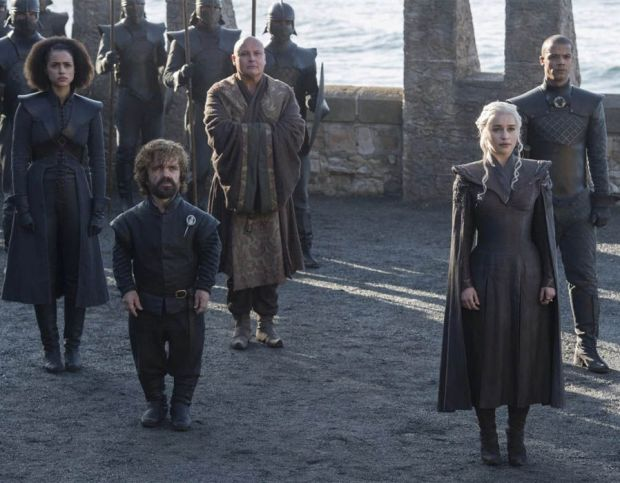 Daenerys can be seen arriving in Westeros
