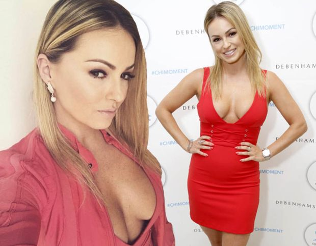 Ola Jordan wows in jaw-dropping red mini dress
