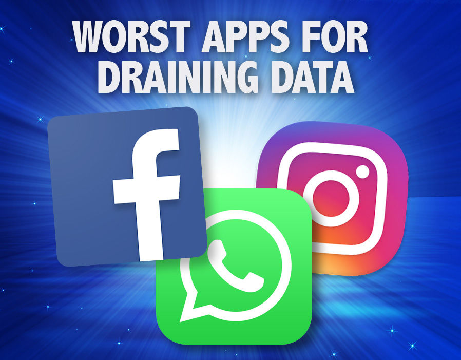 Worst apps for draining your data