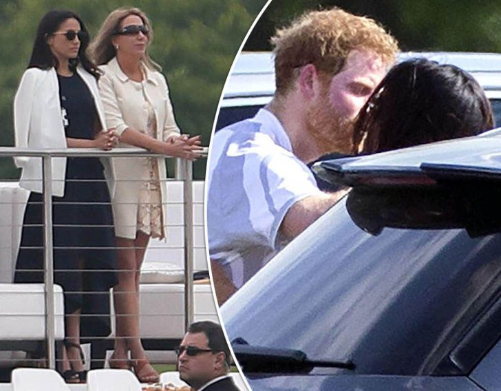 Prince Harry spotted kissing Meghan Markle as engagement rumours mount