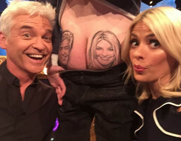 Holly Willoughby bum tattoo