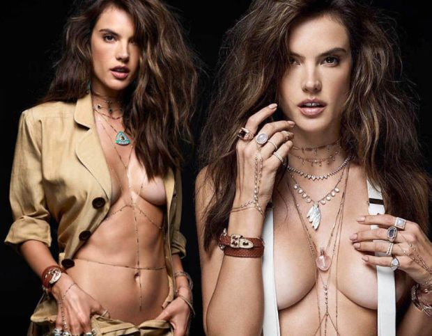Alessandra Ambrosio smoulders as she strips off for latest campaign