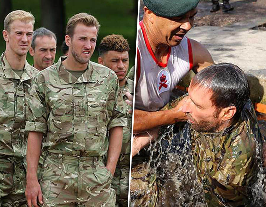 England Squad Put Through Their Paces At Royal Marines