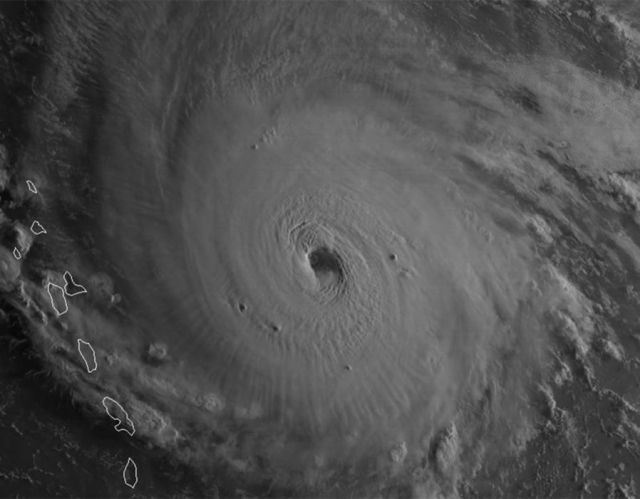 Hurricane Irma eye wall