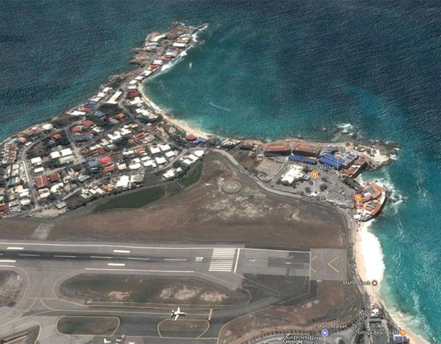 Maho Beach before Hurricane Irma
