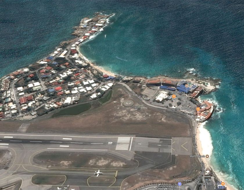 Maho Beach before Hurricane Irma