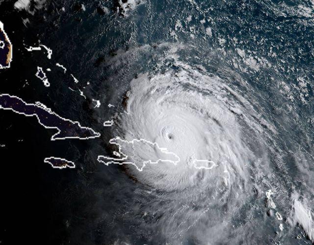 Hurricane Irma at 11:30 UTC on September 7, 2017