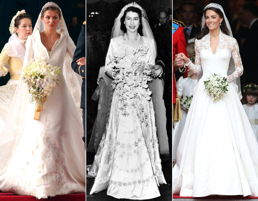 Queen Elizabeth's Wedding Dress Value Vs Kate Middleton's