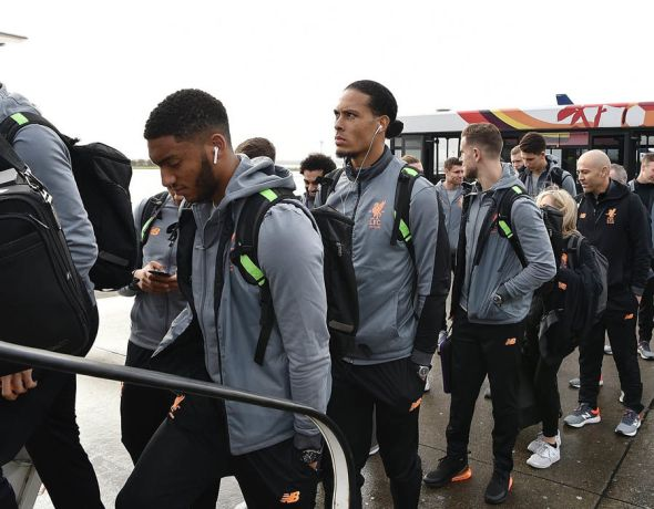 Virgil van Dijk was also spotted among the 25-man squad boarding the plane