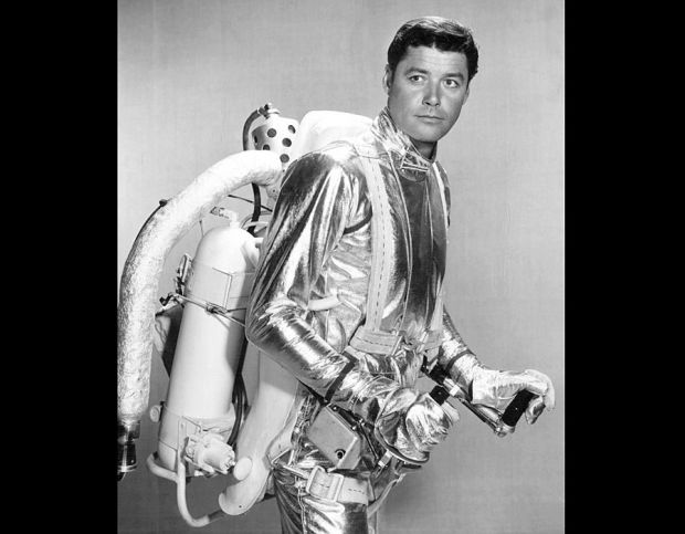 Guy_Williams wears the show's spacesuit in 1965