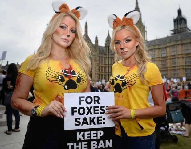 Anti Fox Hunting Protestors