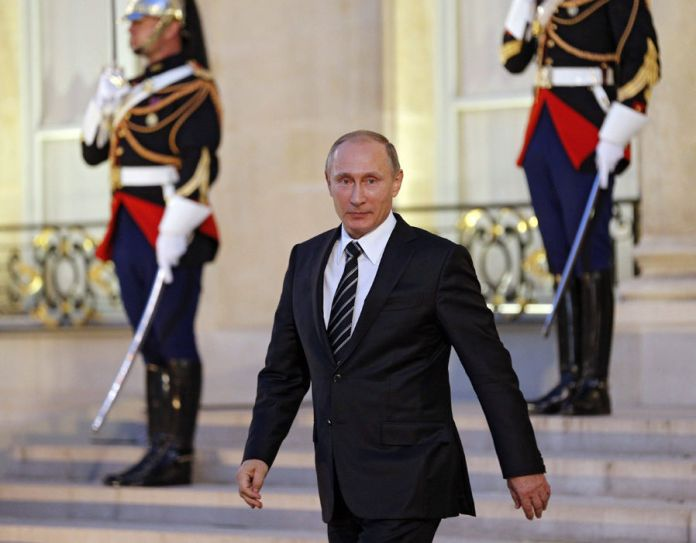 Vladimir Putin Elysee Palace Normandy Quartet summit on Ukraine and Syria
