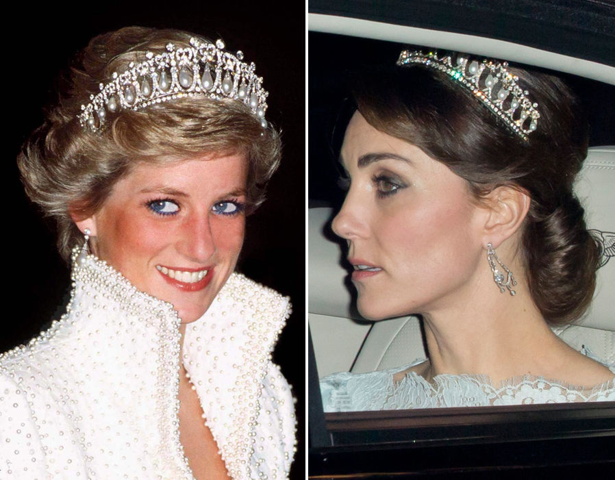 Kate Middleton Wears Princess Dianas Signature Tiara For