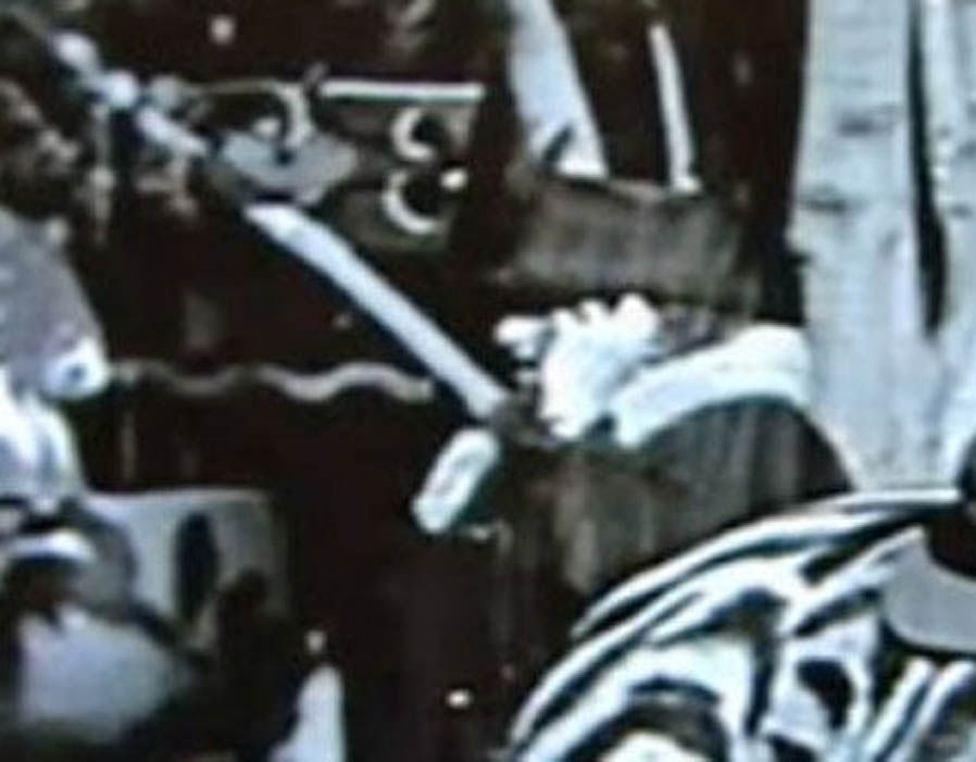 Unreleased footage from Charlie Chaplin's film The Circusbonus in 1928 shows a woman holding a phone to her ear