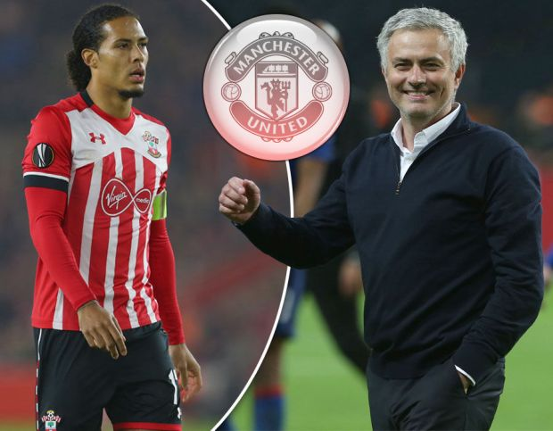 Virgil van Dijk and Jose Mourinho