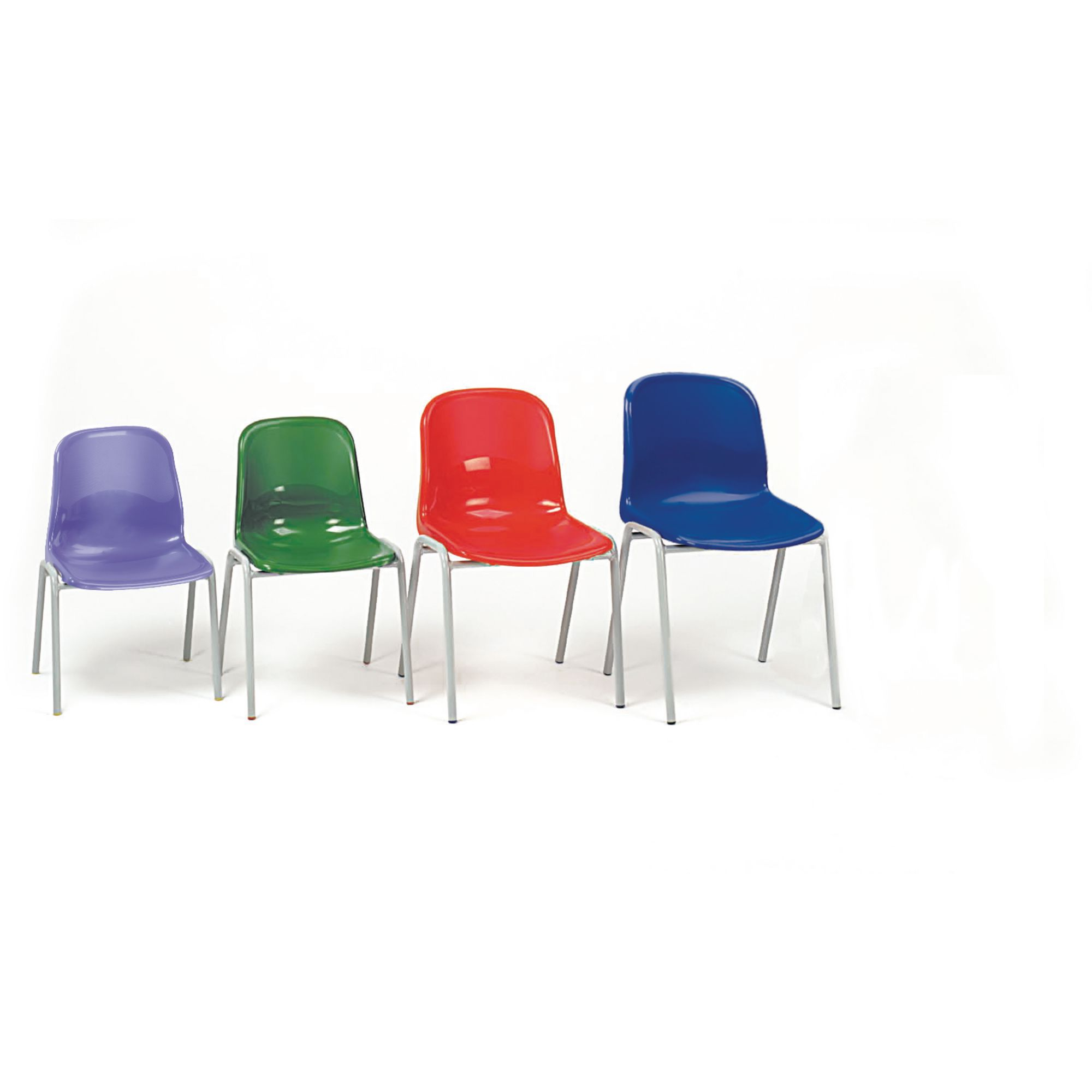Harmony Stackable Classroom Chair Seat Height 310mm Red