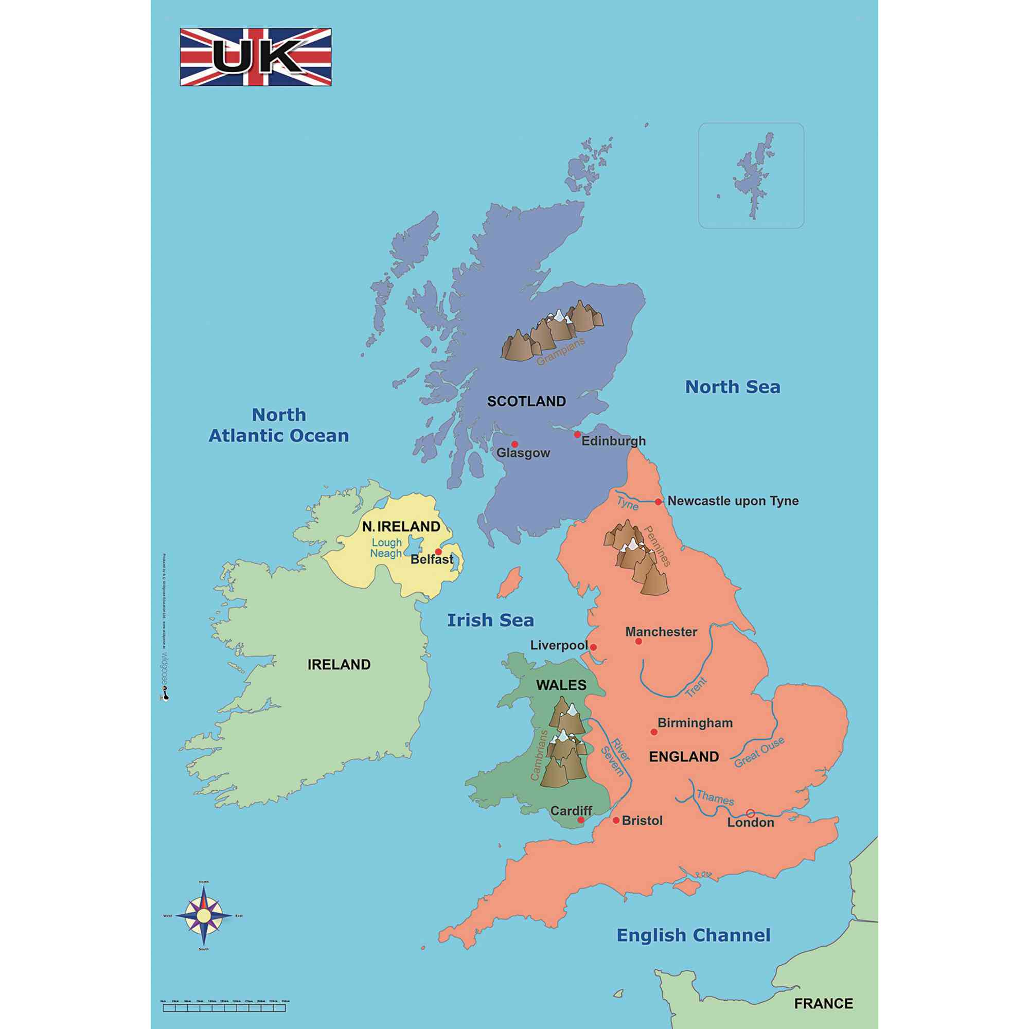 Simple Map Of The Uk
