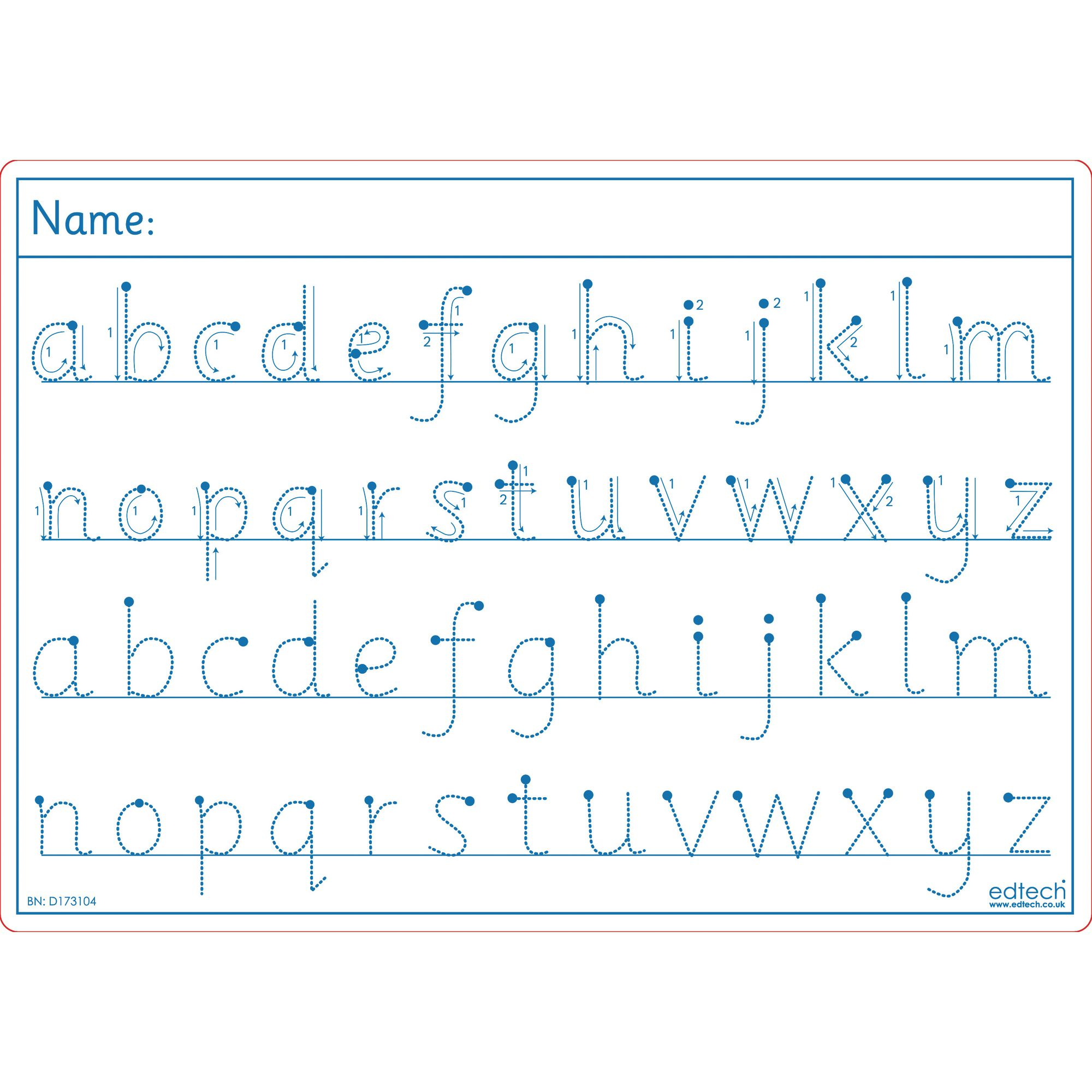 Alphabet Tracing Boards Pack Of 30