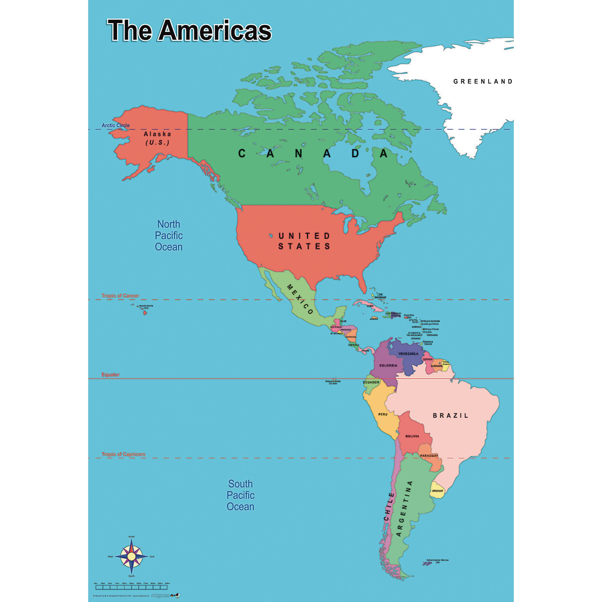 Simple Map Of America