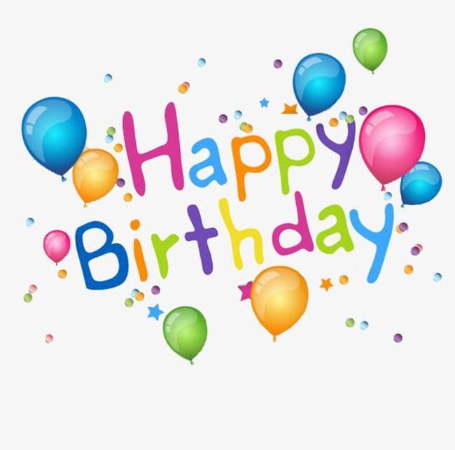 Happy Birthday Balloon Celebration Creative English Png Clipart Balloon Balloon Clipart Balloon Clipart Birthday Birthday Clipart