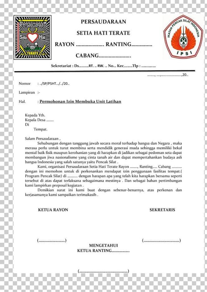 Letter Indonesian Language Surat