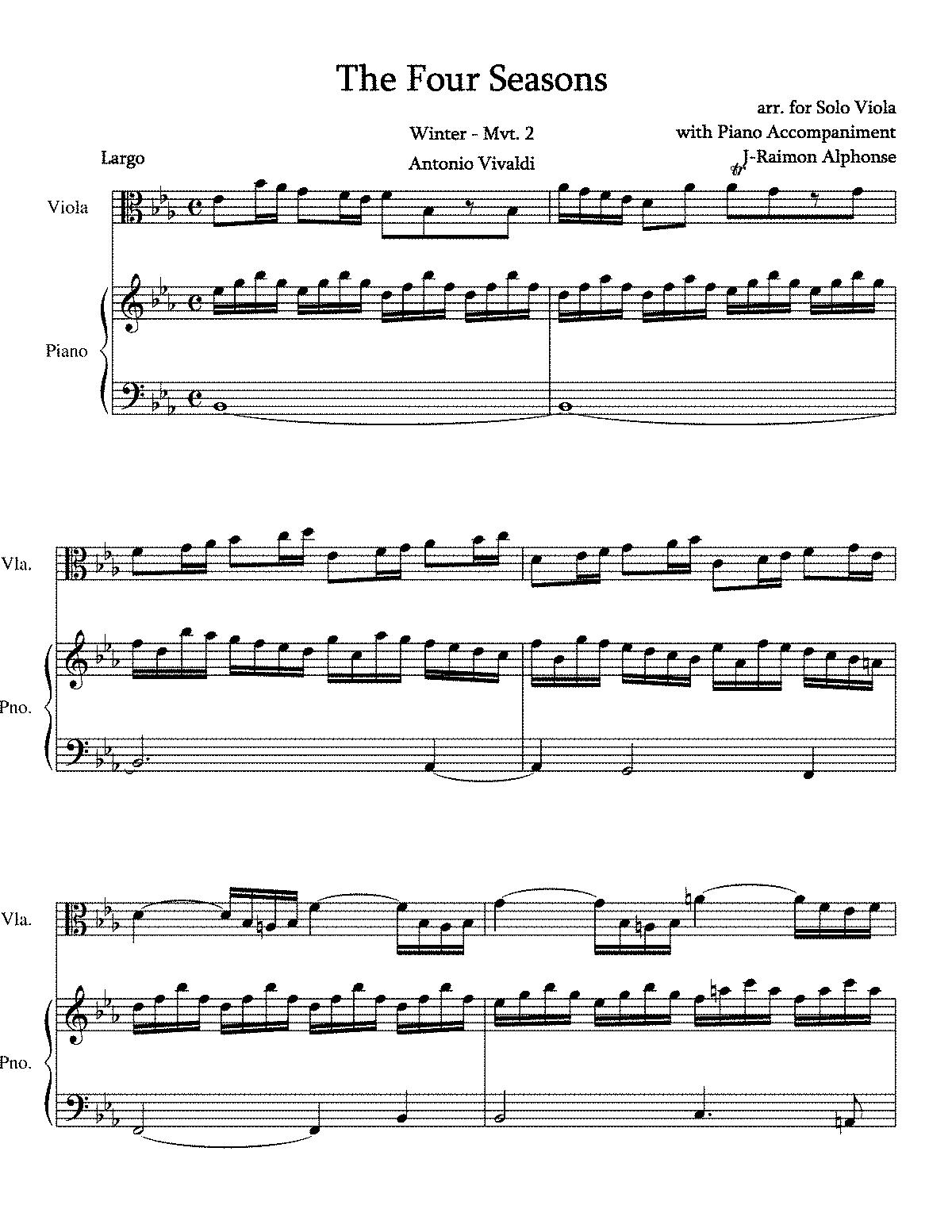 Violin Concerto In F Minor Rv 297 Vivaldi Antonio
