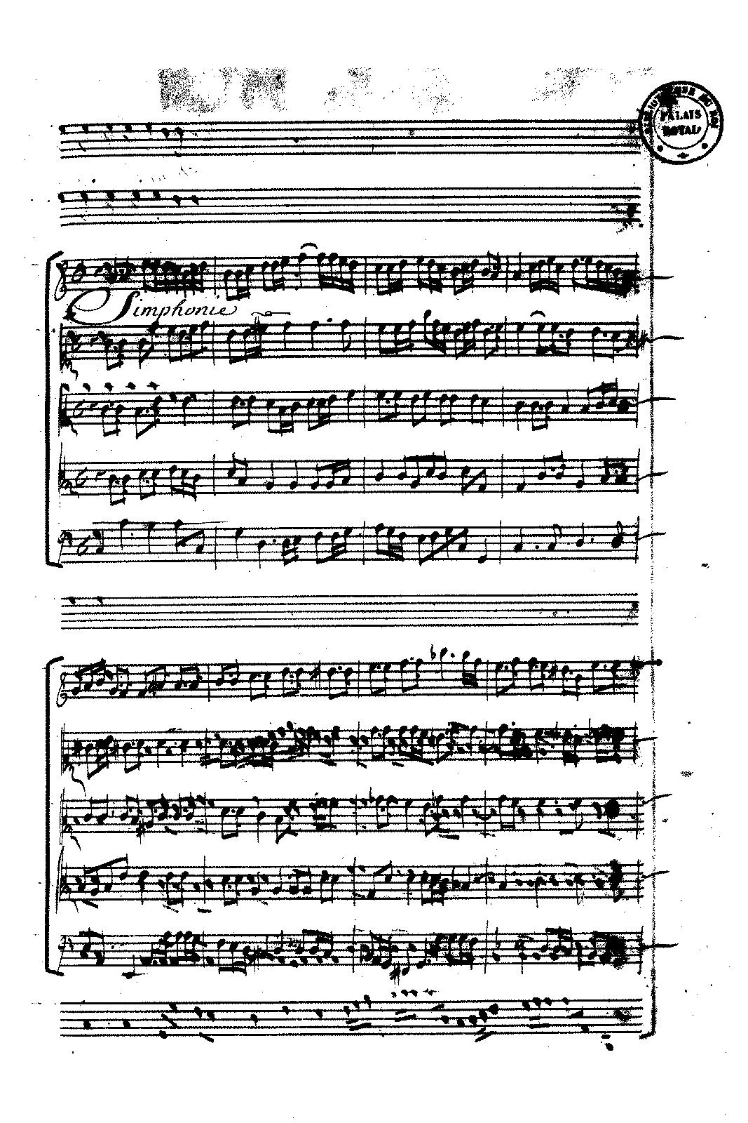 Plaude laetare Gallia, Symphonie
