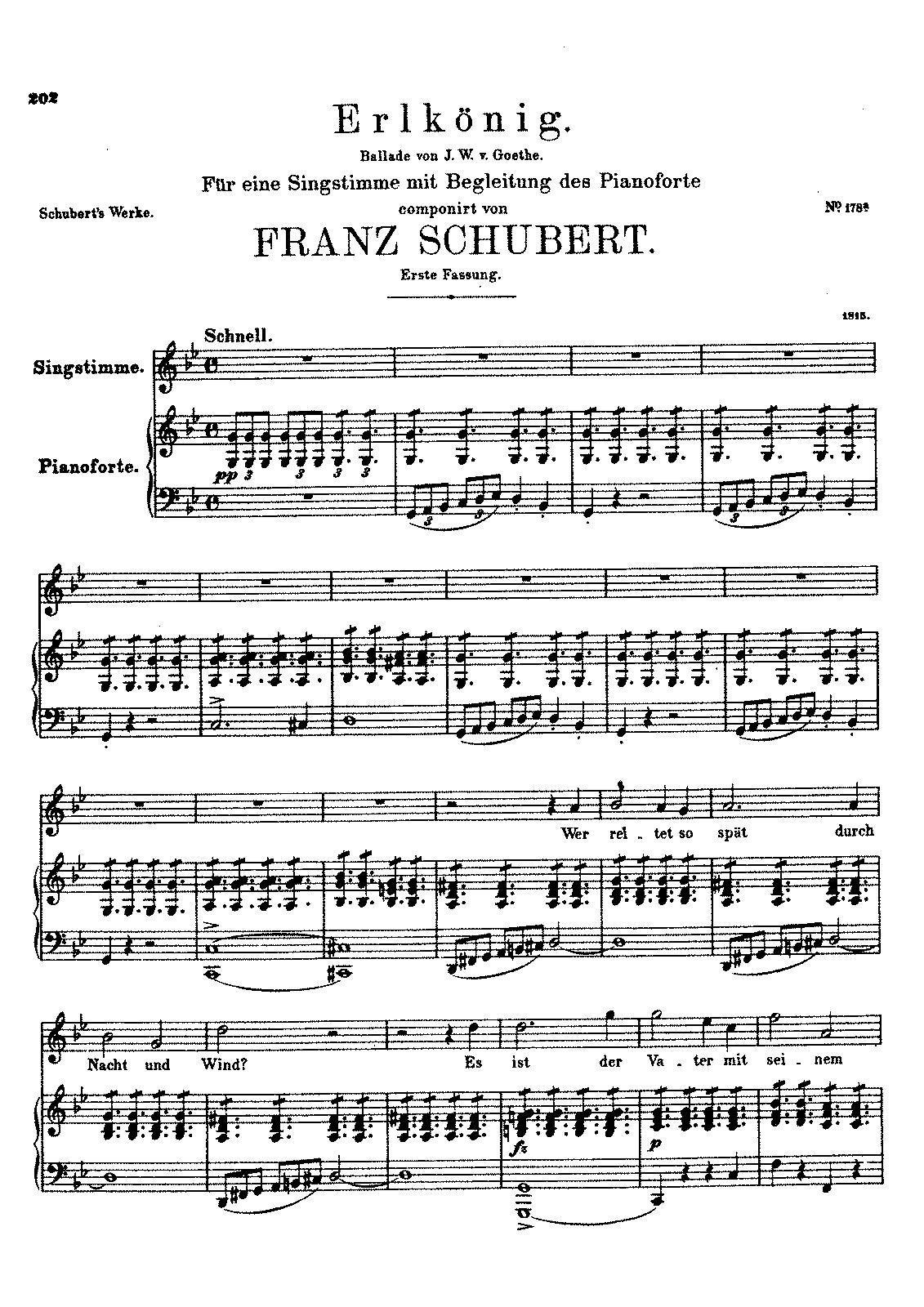 Schubert - Erlkönig