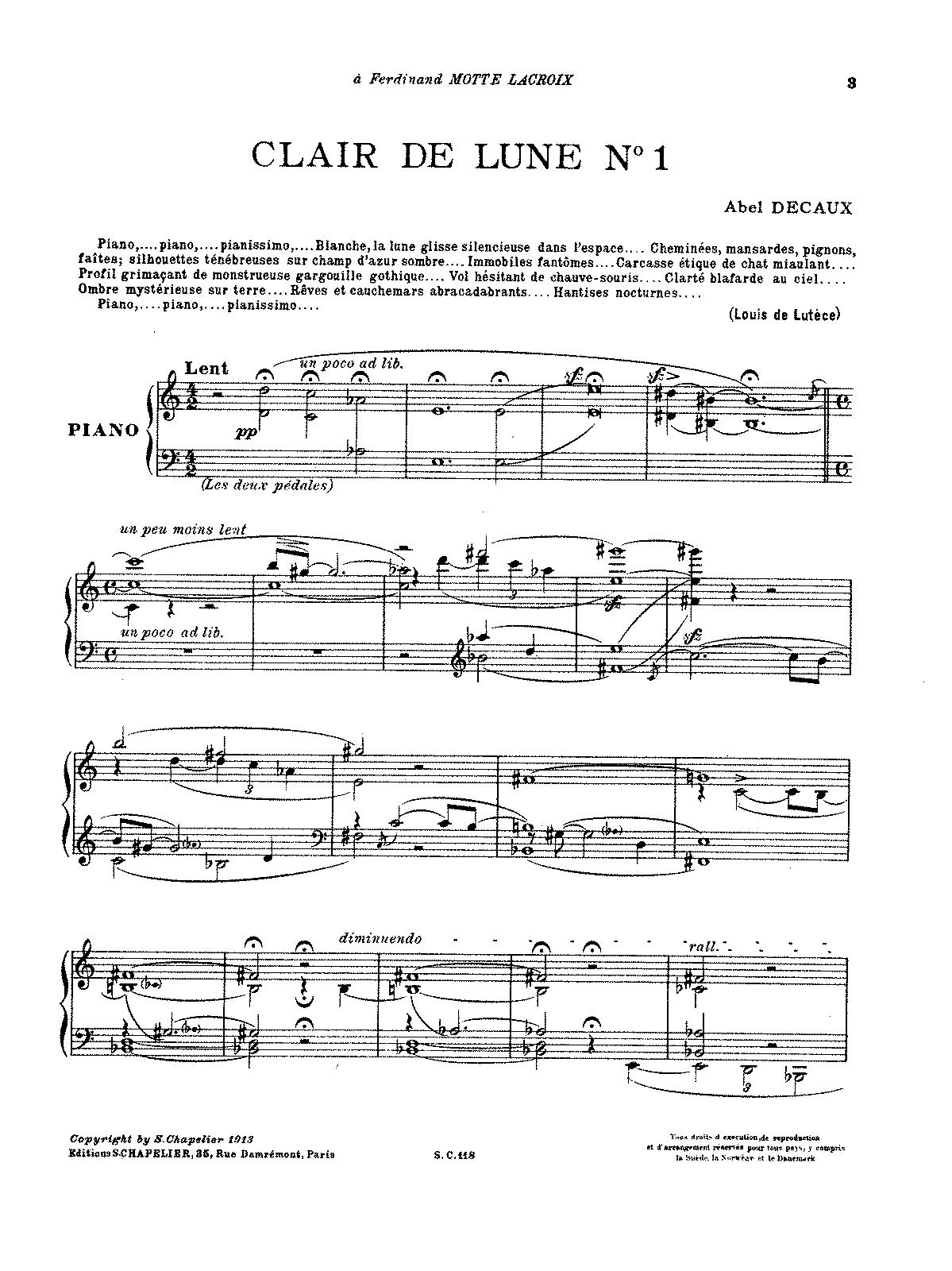 Clair de lune n. 1