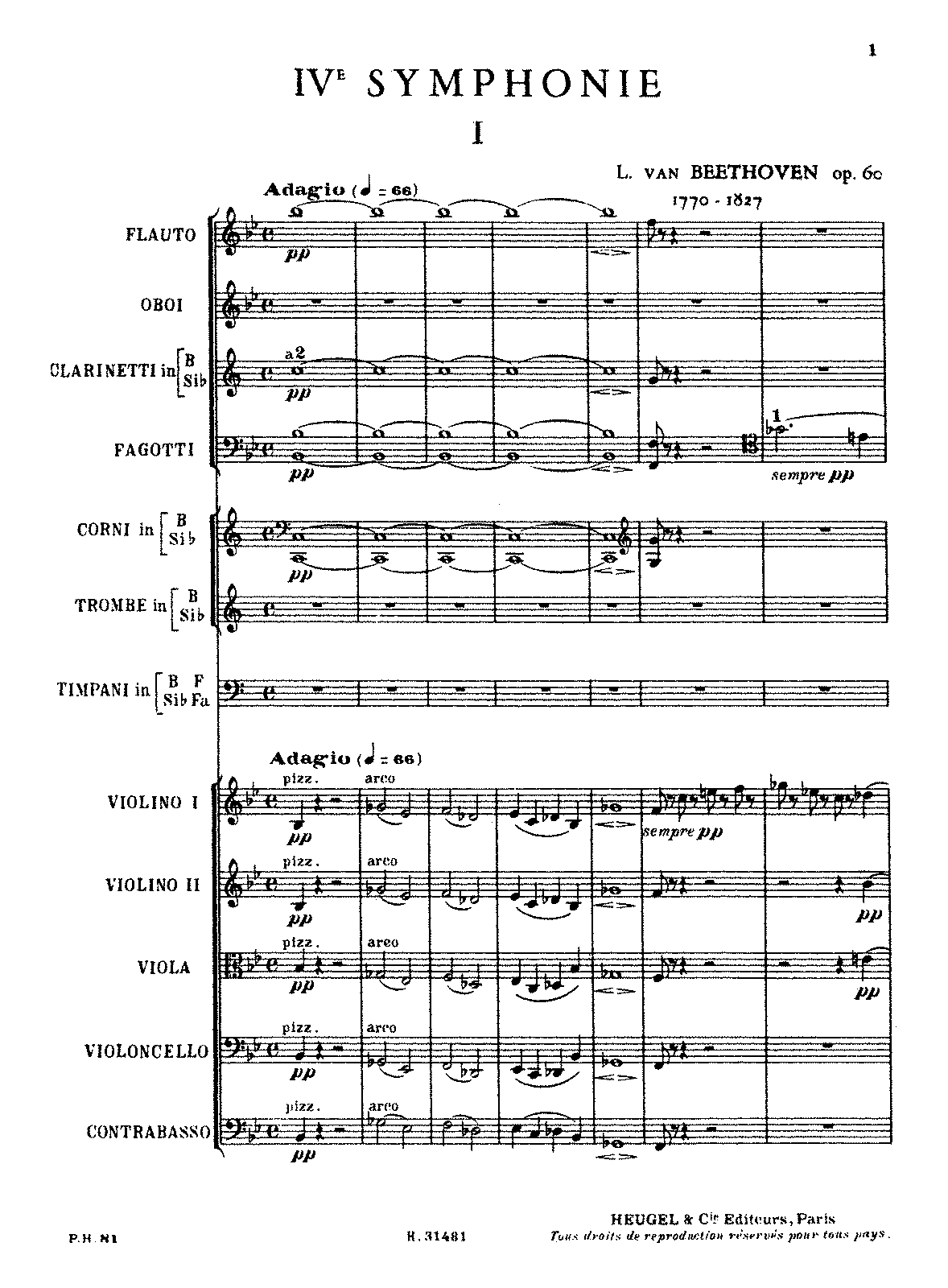 Beethoven Symphony 5 Piano Sheet Music