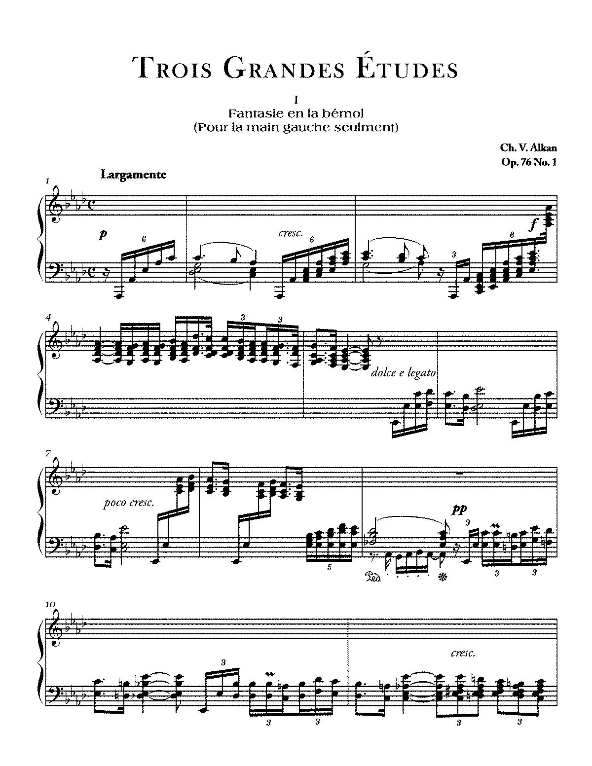 3 Grandes Tudes Op76 Alkan Charles Valentin IMSLP