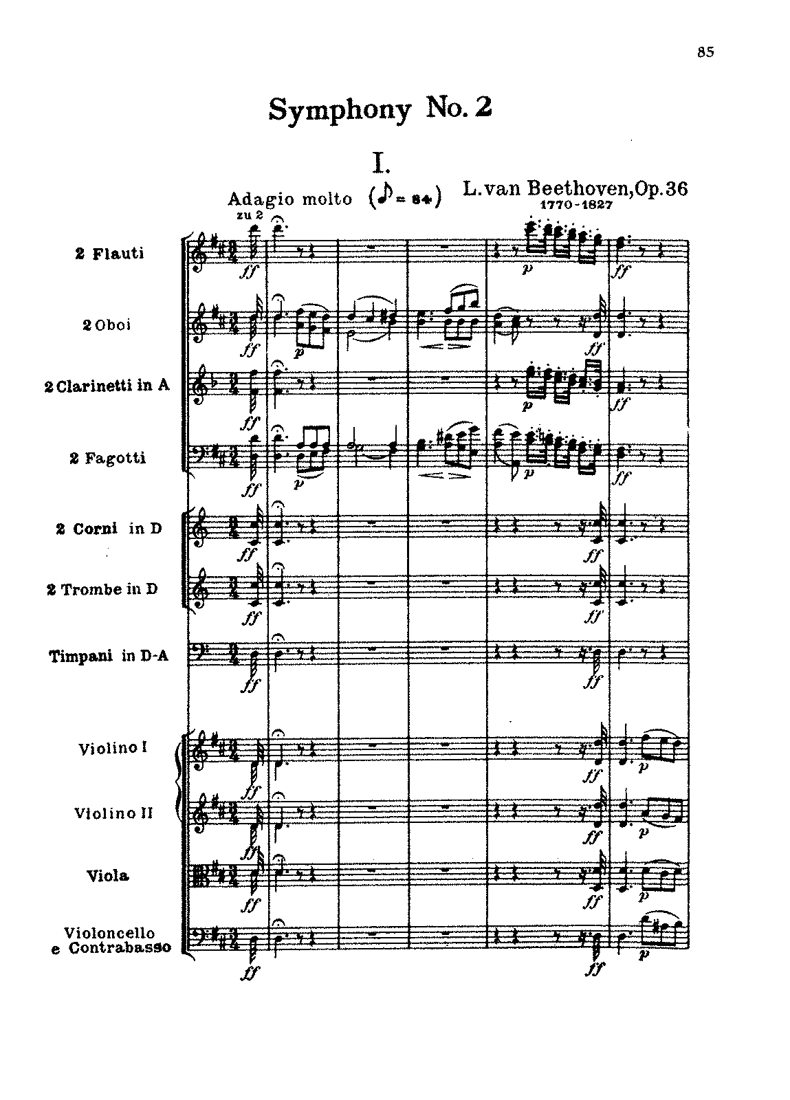 Beethoven Symphony 7 Allegretto Piano Sheet Music