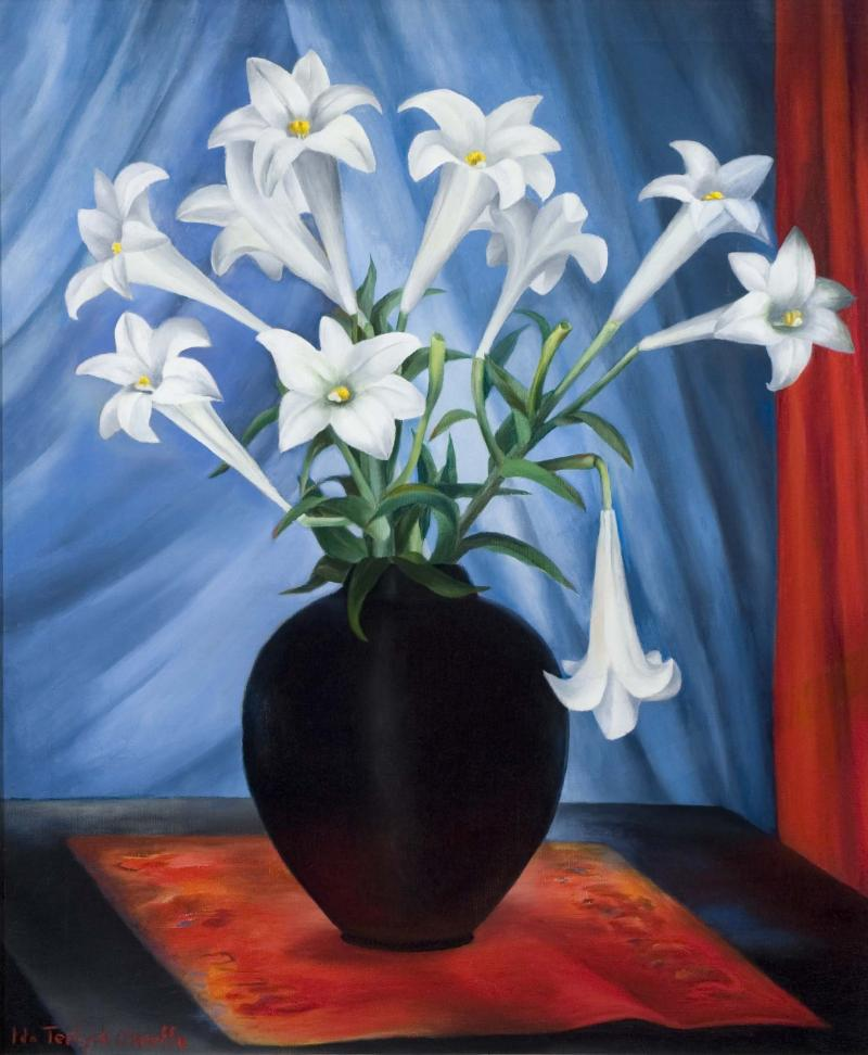 Ida OKeeffe The White Lilies