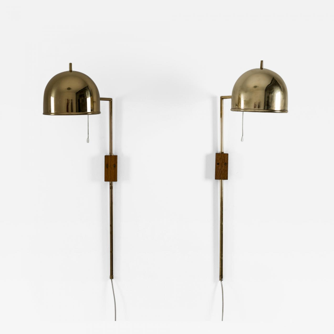 Bergboms Scandinavian Midcentury Wall Lamps In Brass By Bergboms Sweden